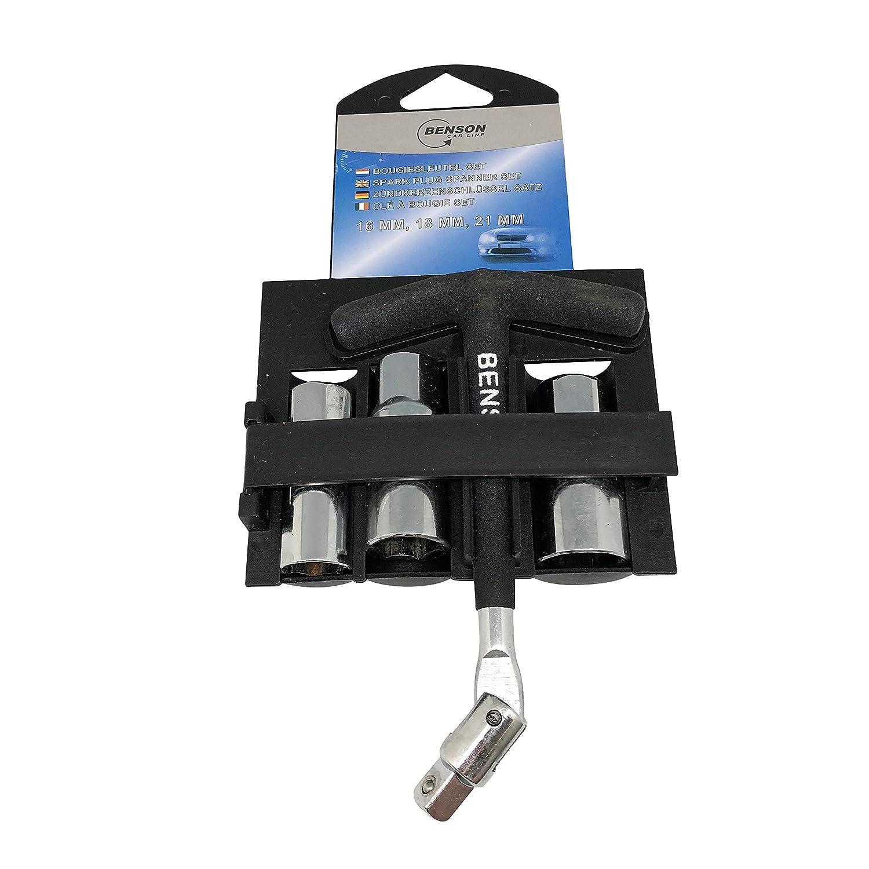 Set de piezas de llaves de bujía de encendido de 16/18/21 mm: Amazon.es: Coche y moto