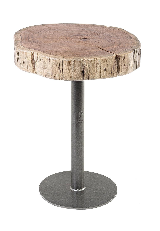 Bizzotto Benson Table D42 - bois - marron - 42 x 42 x 50 cm