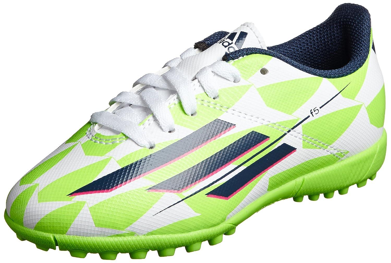 Adidas Fußballschuhe F5 TRX TF J Herren core Weiß-rich Blau-solar green, 38, gruen