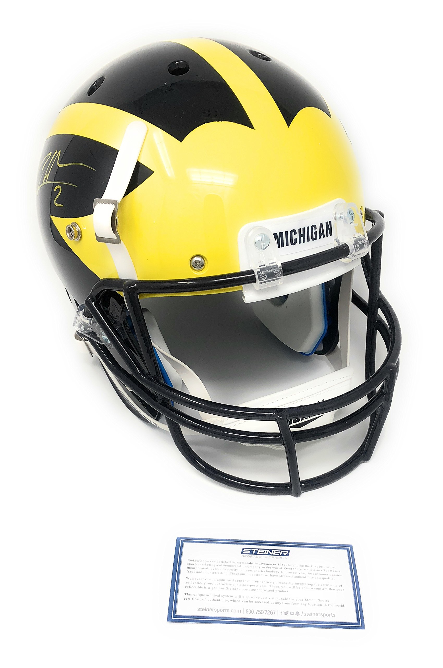 Charles Woodson Michigan Wolverines Signed Autograph Full Size Helmet Steiner Sports Certified