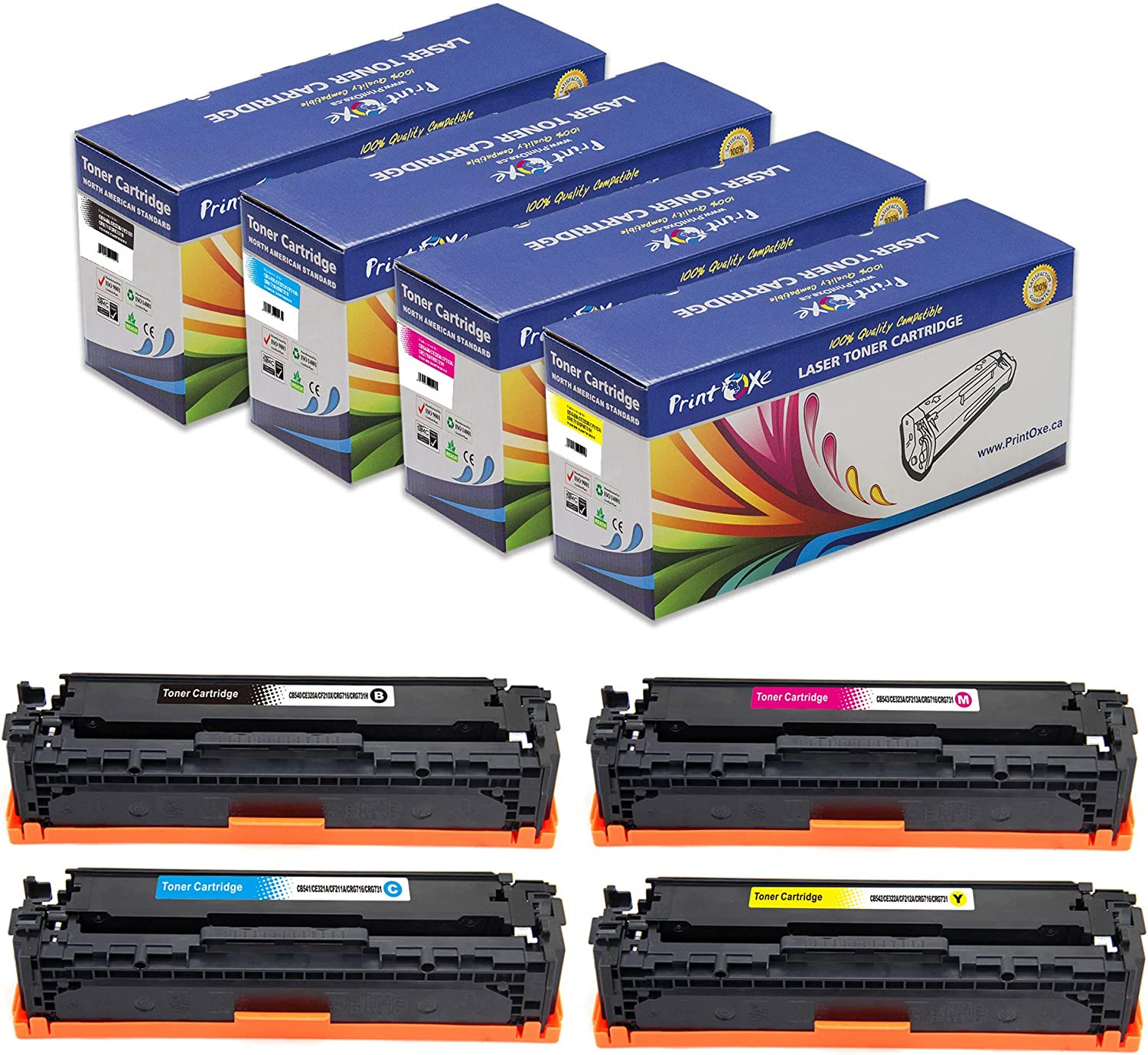 CM1415FNW; CP1525 Magenta 128A Works with: Color Laserjet CM1415 Ink /& Toner USA Compatible Toner Replacement for HP CE323A CP1525NW CM1415FN
