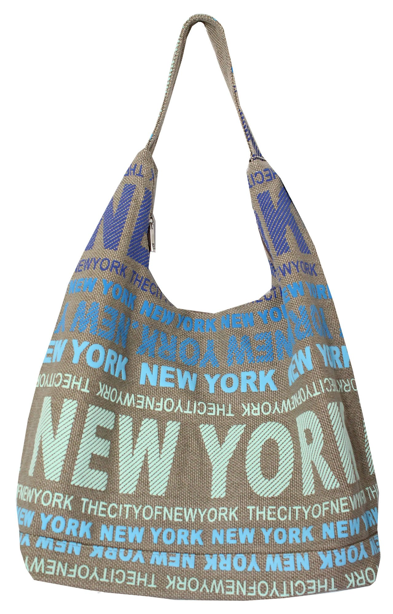 Robin Ruth New York City Cotton Fabric Hobo Shoulder Bag Blue by Robin Ruth (Image #1)