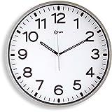 Orium 2116790961 - Reloj silencioso, 30 cm diámetro, color gris