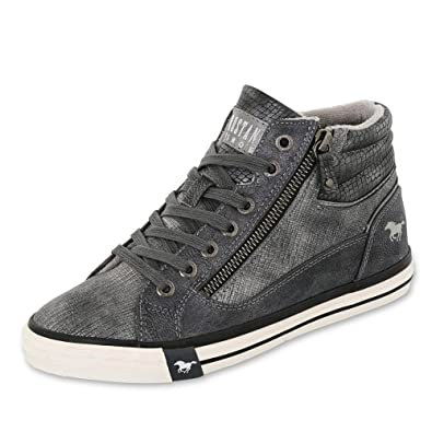 the best attitude 3a135 59e87 Mustang Damen High Top Sneaker Grau