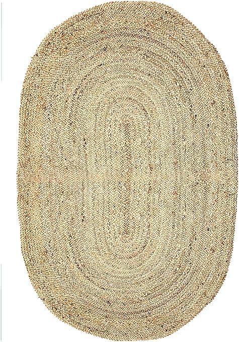 Alfombra rectangular de yute 152 x 91 cm Alfombra de yute