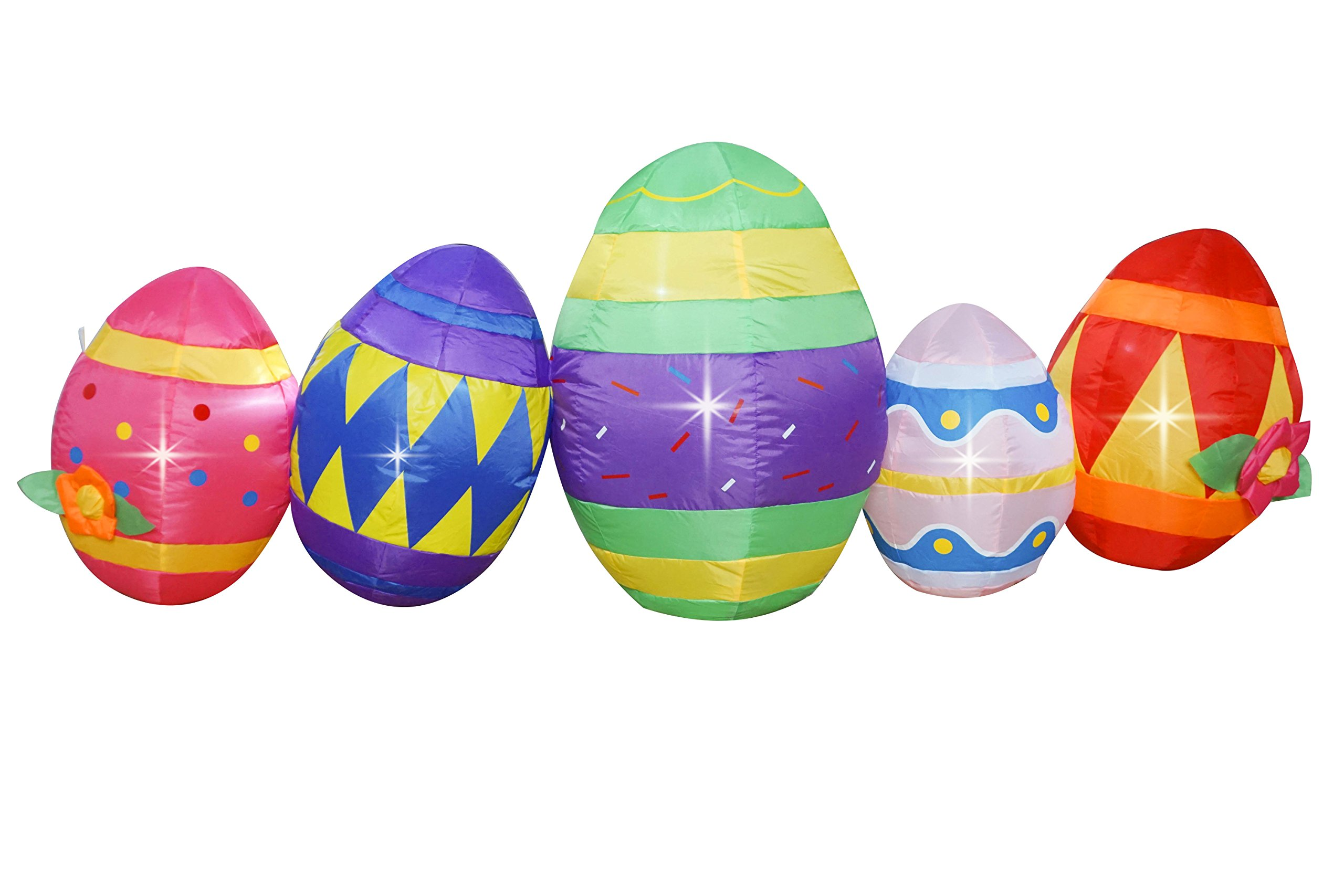 BIGJOYS SEASONBLOW 6 Ft Lighted Easter Egg Inflatable Eggs Decoration for Indoor Outdoor Home Yard Lawn Decor