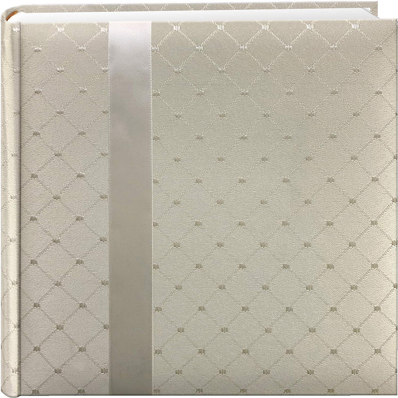 "Pioneer DA200FDR Fabric Diamond Ribbon Wedding Photo Album, Holds 200 4x6"" Photos, 2 Per Page Color May Vary"