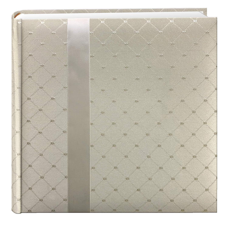 Pioneer DA200FDR Fabric Diamond Ribbon Wedding Photo Album, Holds 200 4x6