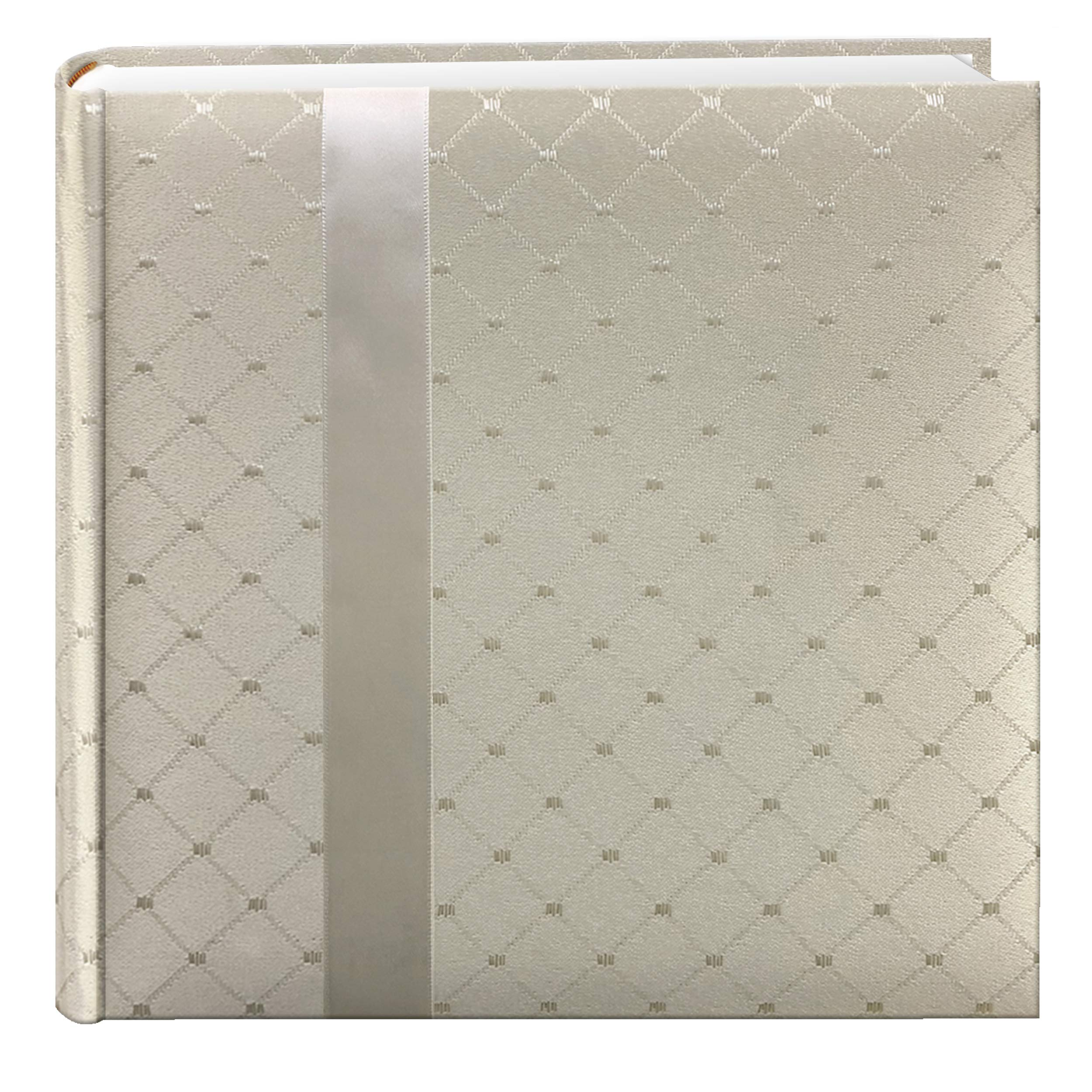 Pioneer DA200FDR Fabric Diamond Ribbon Wedding Photo Album, Holds 200 4x6'' Photos, 2 Per Page Color May Vary by Pioneer Photo Albums
