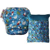 Dinuve Pack Pañal bañador para bebé niño de 0 a 3 años Reutilizable con Bolsa Impermeable a Juego.