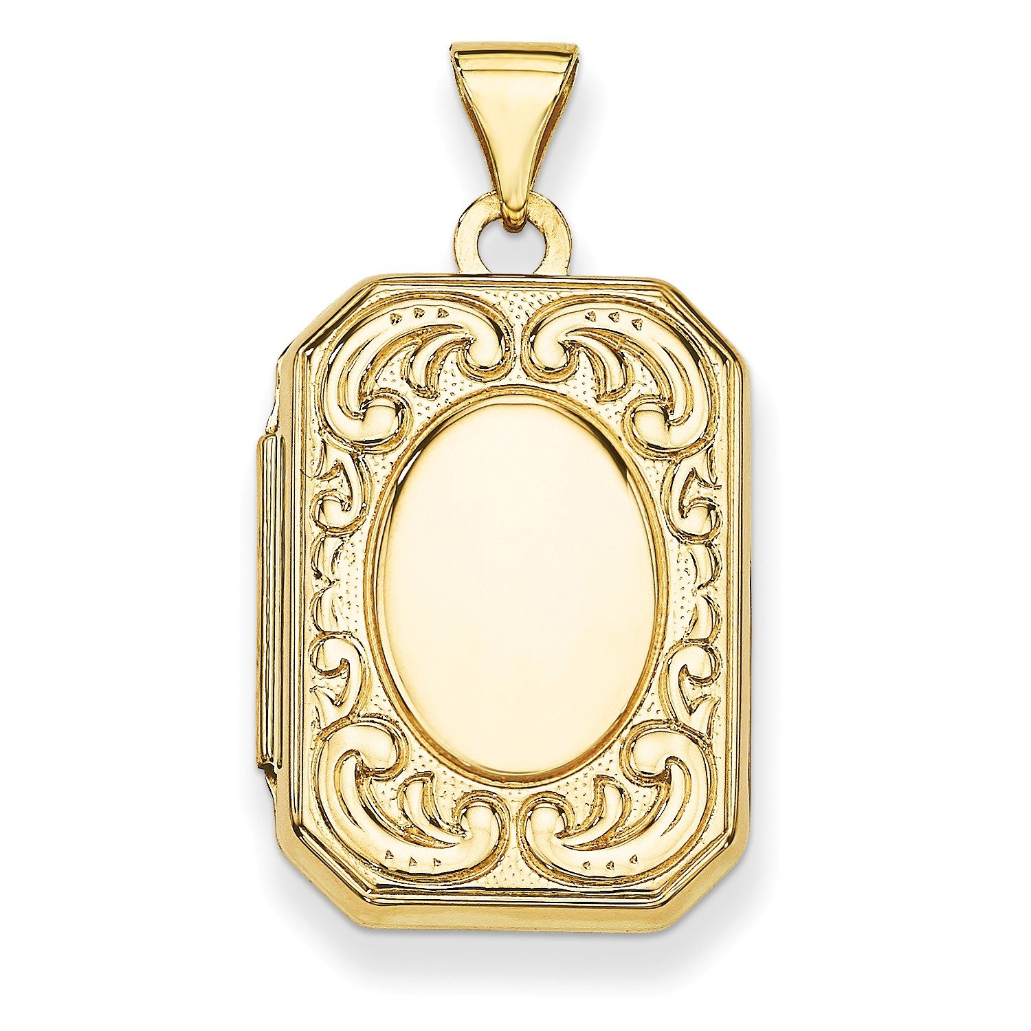 Roy Rose Jewelry 14K Yellow Gold Rectangle Locket 30x16mm