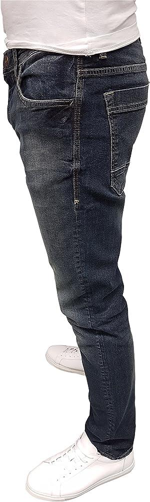 Tom Tailor Herren Jeans Josh Blau Mid Stone Wash Regular Slim Fit