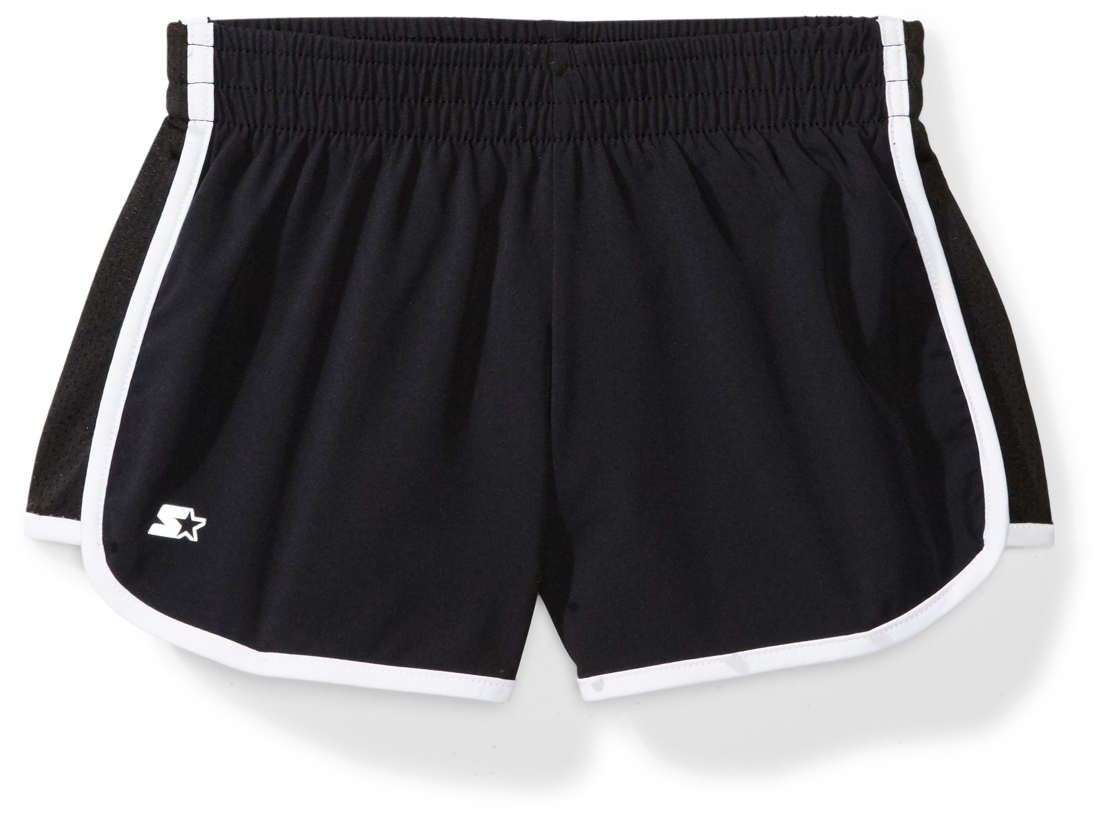 Starter Girls' 3'' Stretch Running Short, Amazon Exclusive, Black, S (6/6X) by Starter