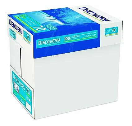 Discovery NDI0700025 - Papel para impresora (70 g/m², A4, 5 paquetes de 500 hojas), color blanco