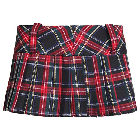 1a008cb6c Womens Ladies 12 Inch Tartan Skirt Pleated Mini Micro Skater Kilt Shorts  Girls 8-14: Amazon.co.uk: Clothing