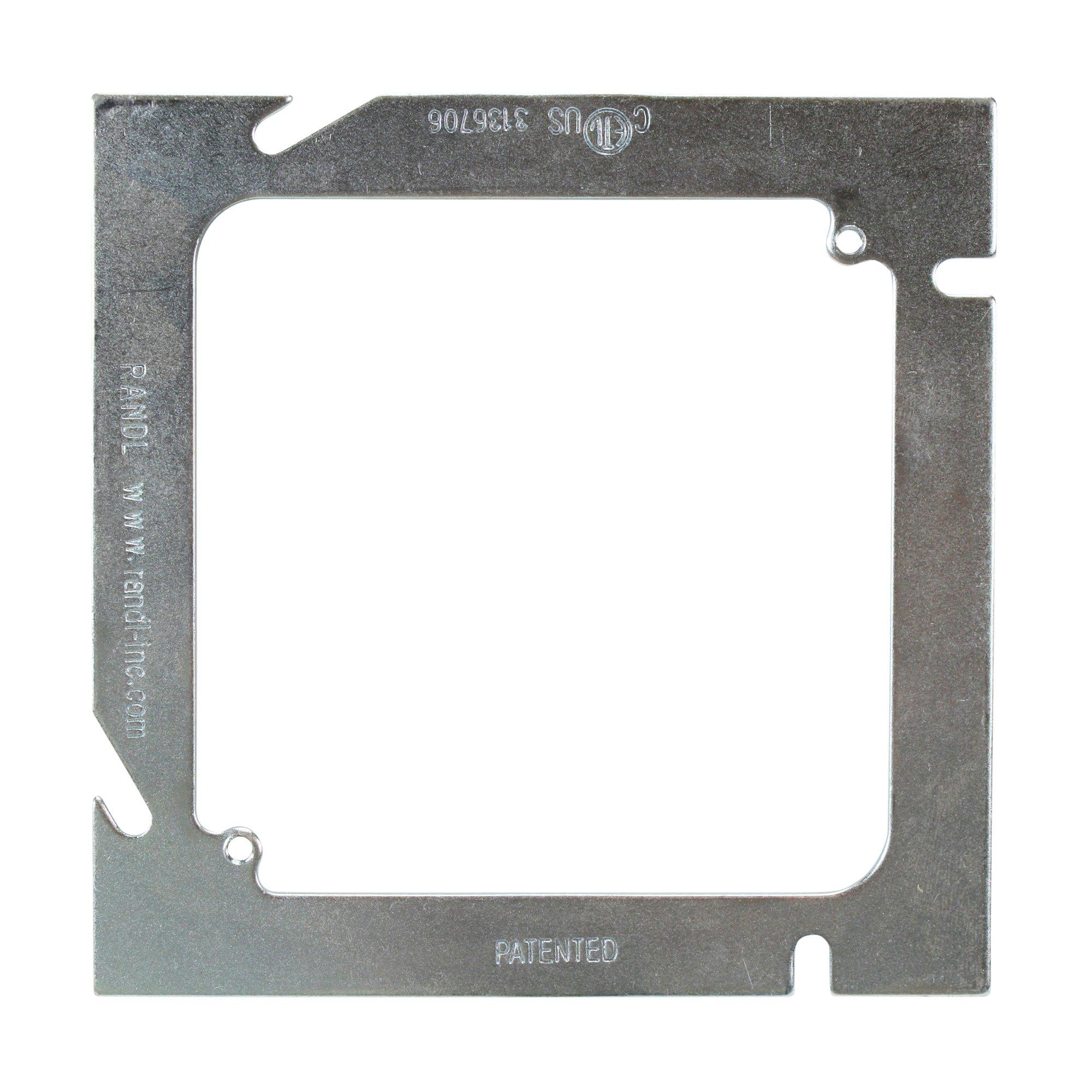 Randl N-54000 Flat 5'' X 4'' Square Outlet Box Ring 5 Swaure Box (20 Pack)