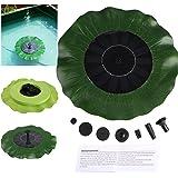 Liqoo® 1.4W Solar Bomba de Agua Fuente para Decoración de Estanque Jardín Forma de hoja de Loto con 4 Boquillas de Pulverización 7V Altura Máxima del Agua 30-50 cm