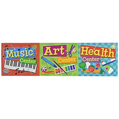 Eureka Back to School Hands on Management Center Signs Mini Bulletin Board and Classroom Decorations, 6.5'' x0.1''x 26'', 8 pc: Toys & Games