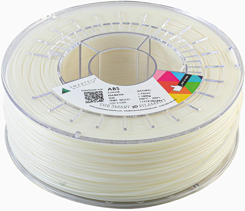 SMARTFIL ABS 1.75mm, Natural, 1000g Filamento para Impresión 3D de Smart Materials 3D