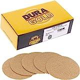 "Dura-Gold - Premium - 80 Grit 2"" Gold Hook & Loop Sanding Discs for DA Sanders - Box of 30 Sandpaper Finishing Discs for…"