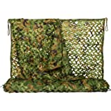 NINAT Filet De Camouflage La Jungle De Filets Militaire Couverture Camouflage Chasse d'ombrage 1x2M,2x3M,1.5x4M,2x5M,2x6M,2x8M,3x3M,4x5M,4x6M,6x6M,6x7M