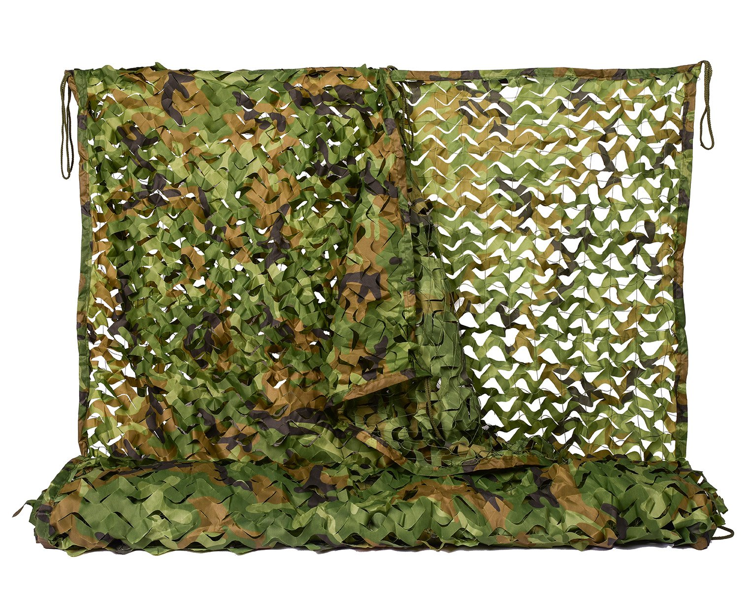 NINAT Camo Netting 3.25x6.5ft Woodland Camouflage Net for Camping Military Hunting Shooting Sunscreen Nets