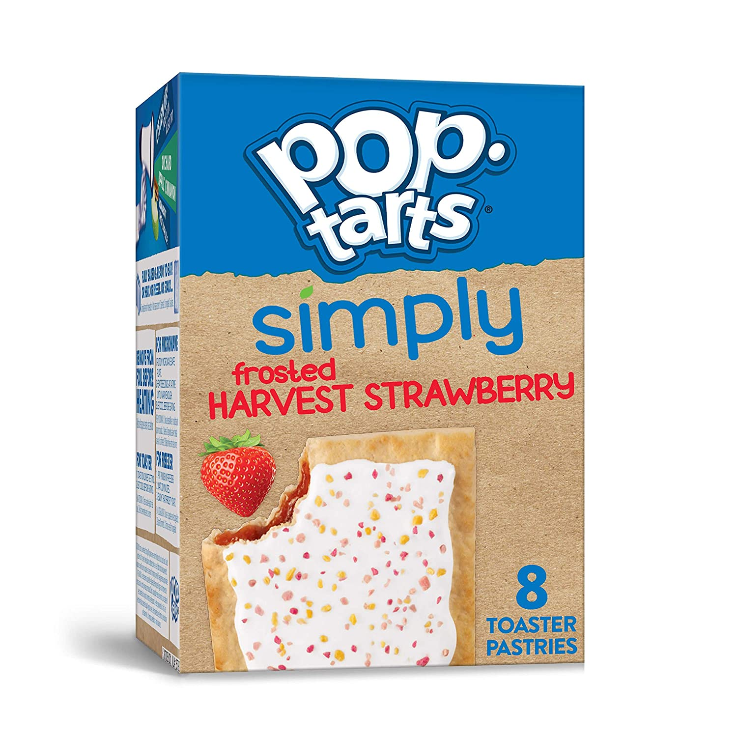 Simply Pop-Tarts, Toaster Pastries, Frosted Harvest Strawberry, Non-GMO Project Verified, 13.5oz Box (8 Count)