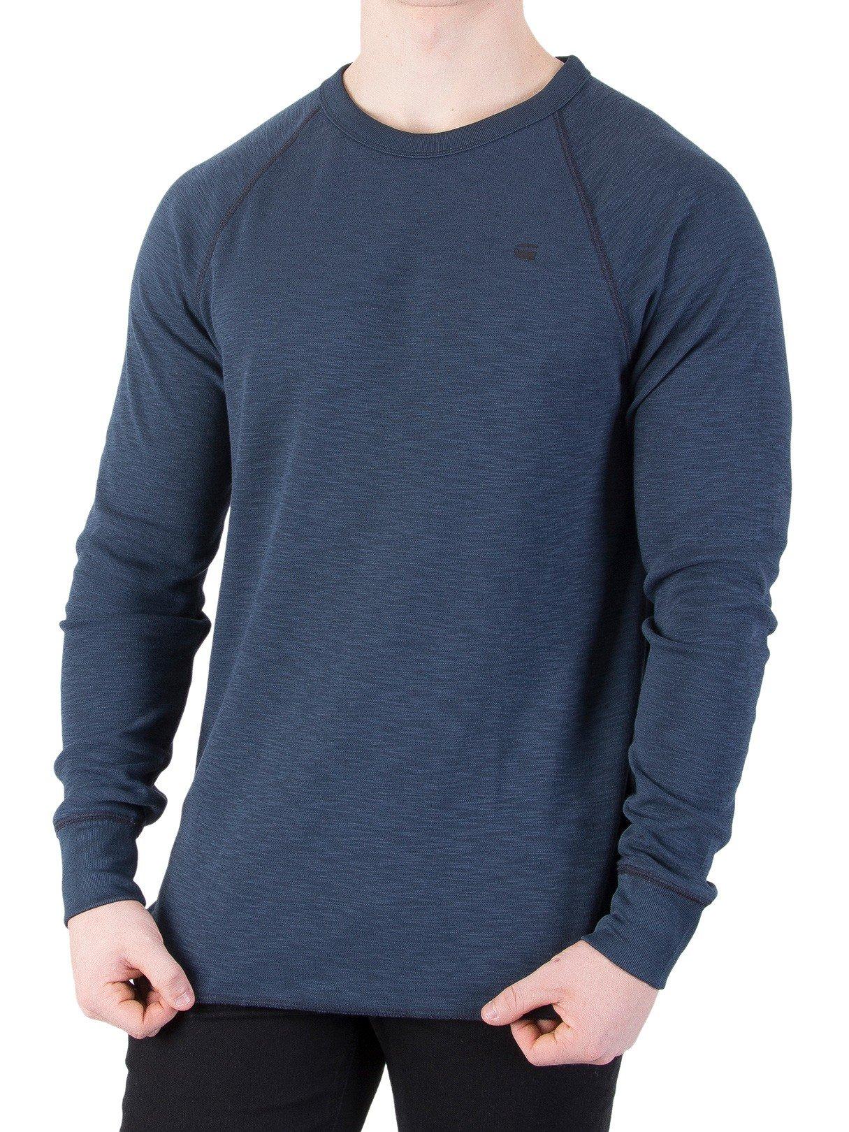 G-Star Men's RC Jirgi Longsleeved T-Shirt, Blue, Large