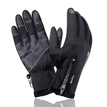 f4f0f56b93d57c Dorcy グローブ 手袋 スマホタッチパネル対応 裏起毛 防寒防水 スポーツ アウトドア 自転車 バイク サイクリング (