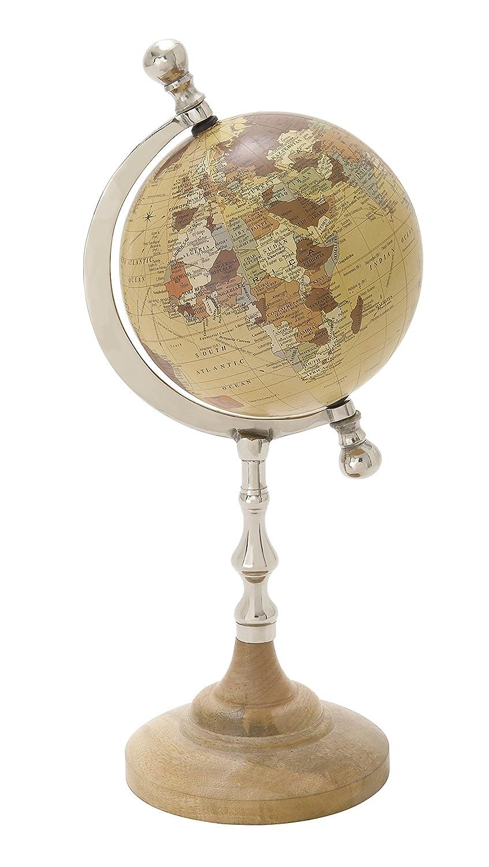 Deco 79 68845 Bolzenschneider Classic und atemberaubende Metall PVC Globe, 17,8 cm W x 40,6 cm H