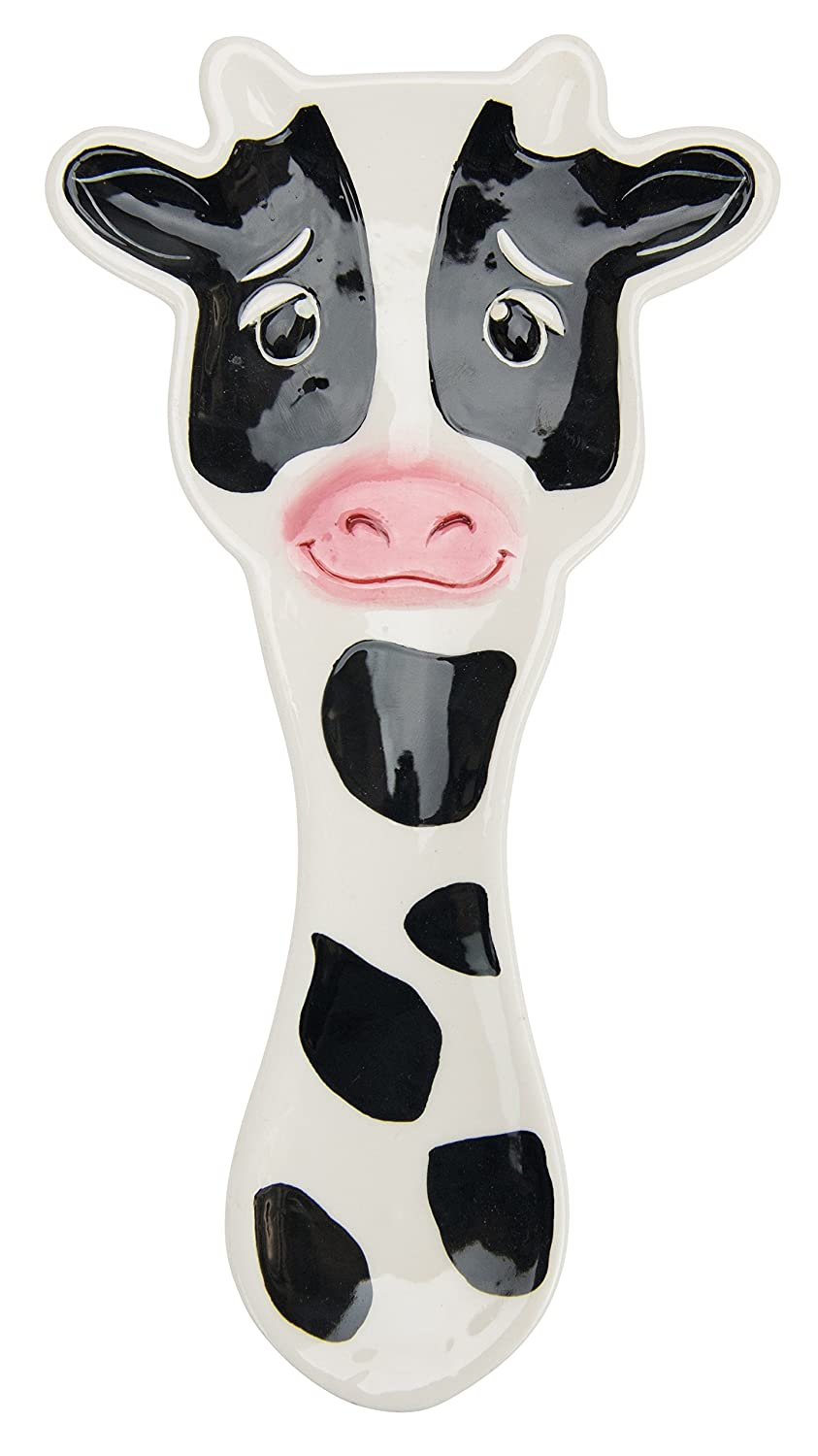 Boston Warehouse Udderly Cow Spoon Rest, Hand Painted Ceramic