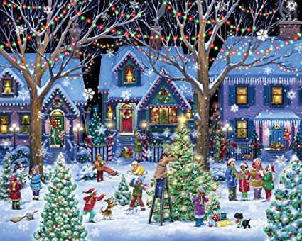 Christmas In Vermont.Vermont Christmas Company Christmas Cheer Jigsaw Puzzle 1000 Piece