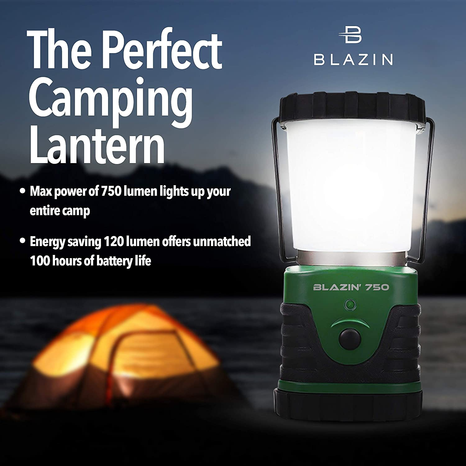 750 Lumen CREE LED Battery Lantern Three Modes Water Resistant Camping Emergency for sale online