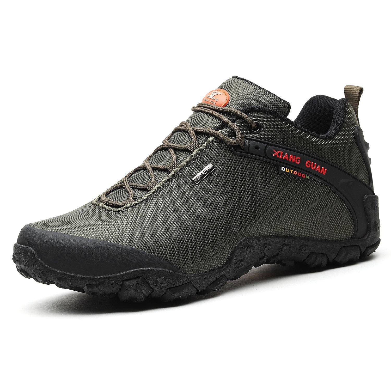 Xiang Guan Zapatos de Deporte y Aire Libre Resistente Al Agua para Montaña Zapatillas Deportivas para Hombre 81283 Negro 42 EU|Verde