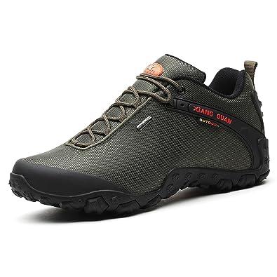 6d2eb239afb31 XIANG GUAN Outdoor Scarpe da Escursionismo Impermeabili Basso-Top Sportive  Scarpe Running Calzature Uomo 81283 Nero  Amazon.it  Scarpe e borse