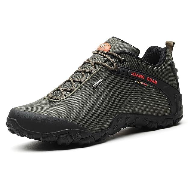 Xiang Guan Zapatos de Deporte y Aire Libre Resistente Al Agua para Montaña Zapatillas Deportivas para Hombre 81283 Negro: Amazon.es: Zapatos y complementos