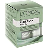L'OREAL PARIS L'Oréal Paris Pure Clay Purifying Eucalyptus Mask, 50 Gram