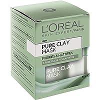 L'OREAL PARIS L'Oréal Paris Pure Clay Purifying Eucalyptus Mask, 50 Gram
