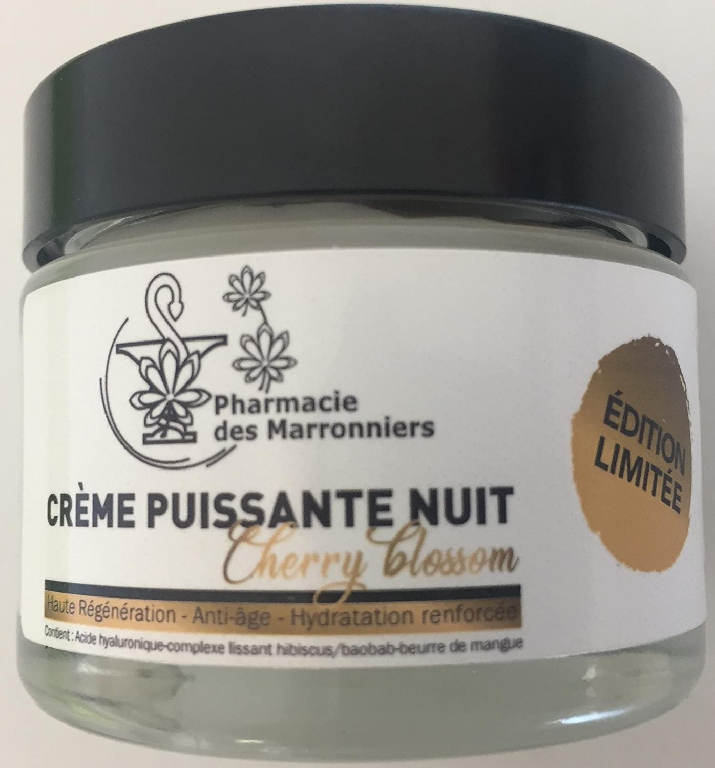 CREME NUIT Edition Cherry Blossom Limitée Pharmacie des Marronniers 50ml skinclever