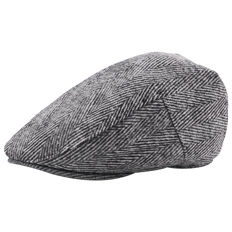 ArtiDeco Mens Flat Caps Tweed Classic Tweed Cap 1920s Gatsby Newsboy Hat Cap Gatsby Hat for Men Roaring 20s Costume Accesories