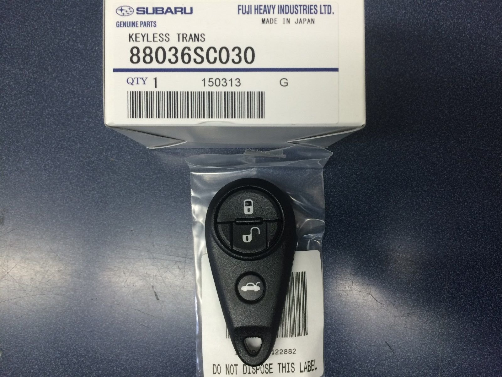 Genuine Subaru 88036SC030 Keyless Transmitter, 1 Pack