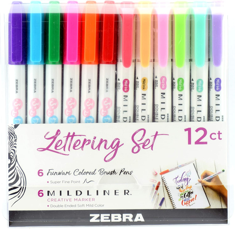 15 Pastel Color set Zebra Mildliner Brush pen set