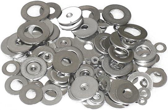 5 pk. 1-1//4 x 3 OD Zinc Plated Finish Low Carbon Steel Large OD Flat Washers