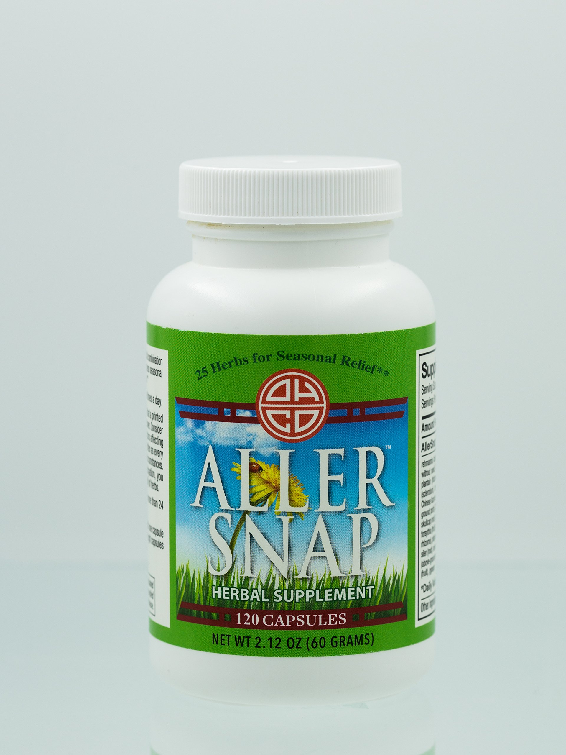 OHCO AllerSnap - Seasonal Allergy Relief to Reduce Inflammation and Irritation Caused By Allergies - Natural and Effective Medication Formulated with 25 Herbs - Safe for All Ages {60 Capsules}