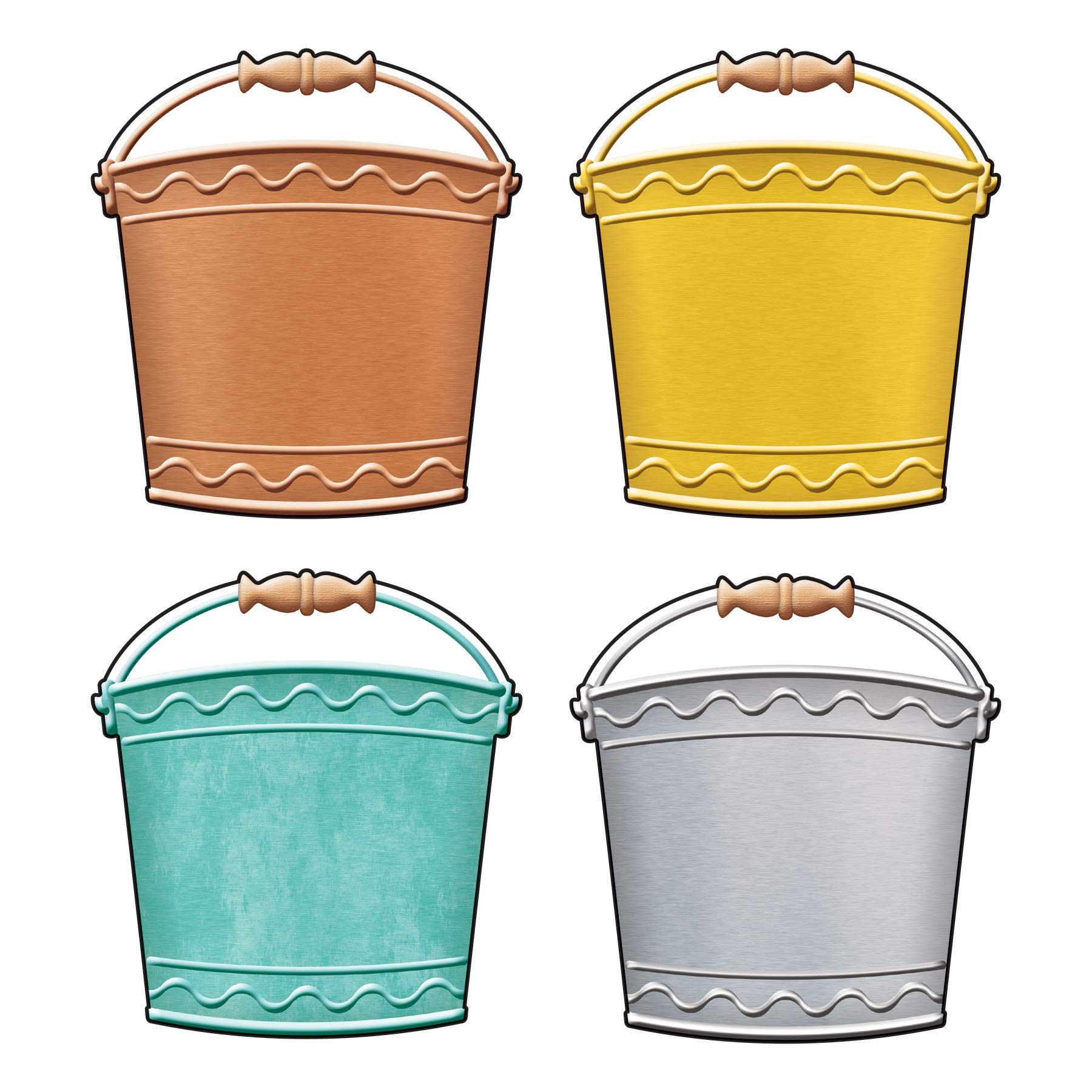 I ♥ Metal Buckets Classic Accents Variety Pack, 36 Count by Trend Enterprises Inc