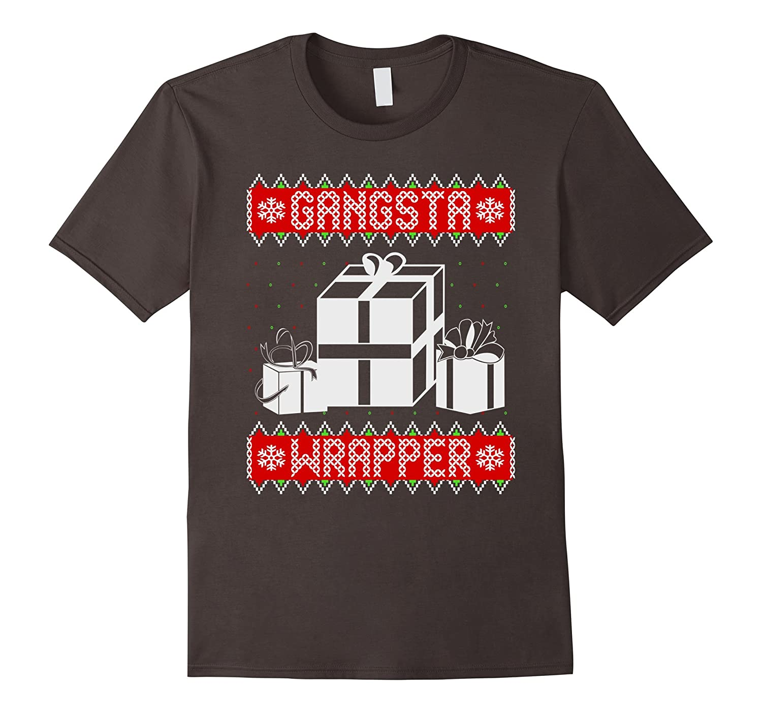 cfb6278301 Gangsta Wrapper Funny Ugly Christmas Sweater Holiday Shirt-RT ...