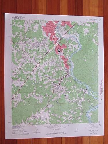 Amazon.com: Lanett South Alabama 1966 Original Vintage USGS ...