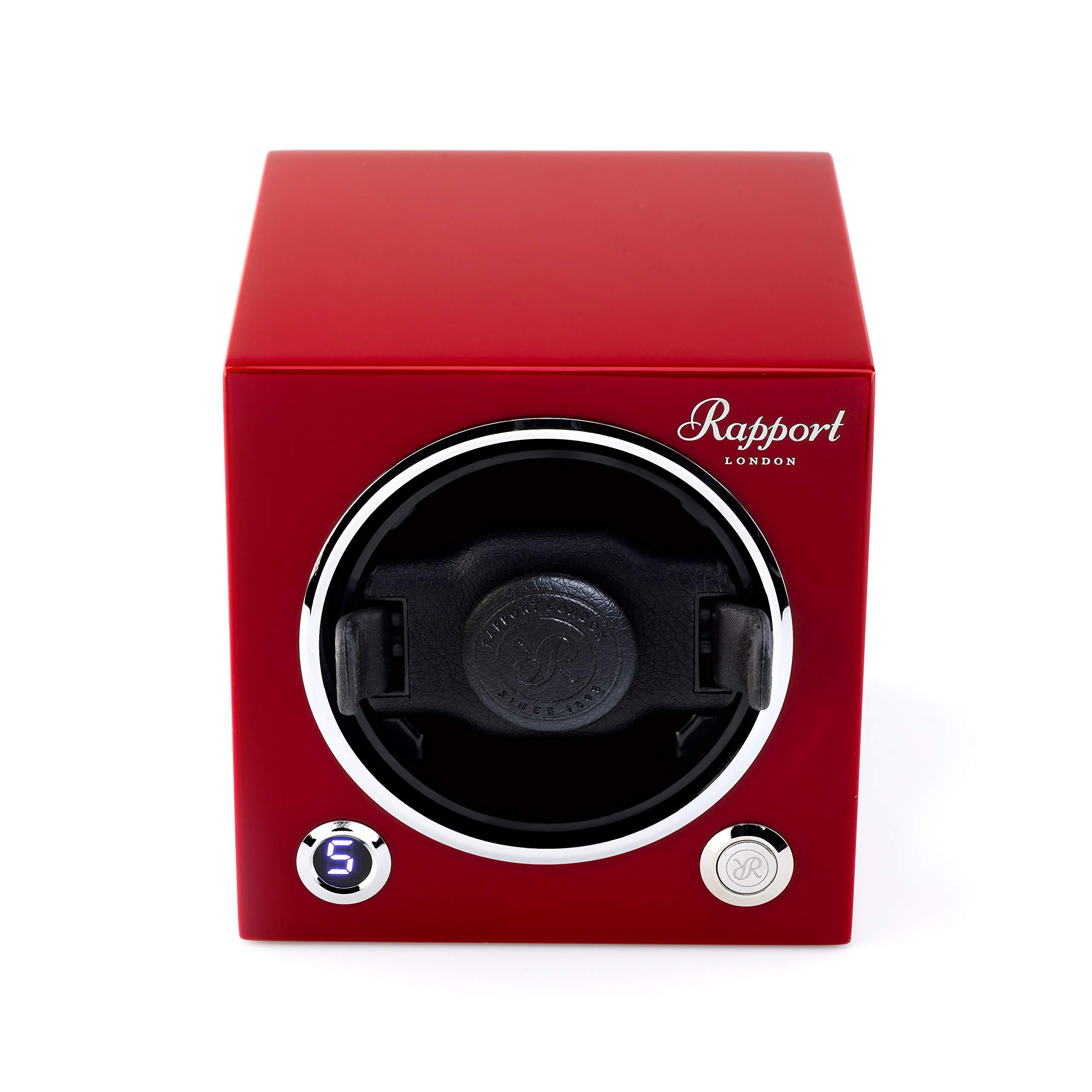 Watch Winder - Rapport London Evo MKII Cube Watch Winder in Crimson Red