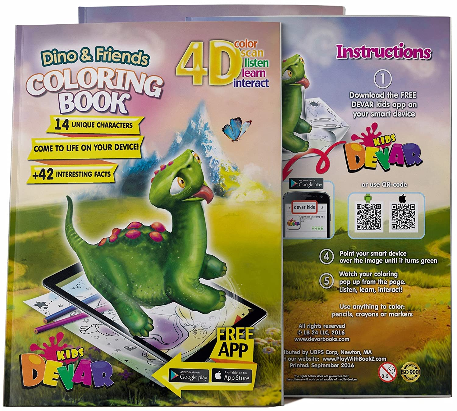 Amazon 4D Augmented Reality Come To Life Coloring Books Dino And Friends Toys Games