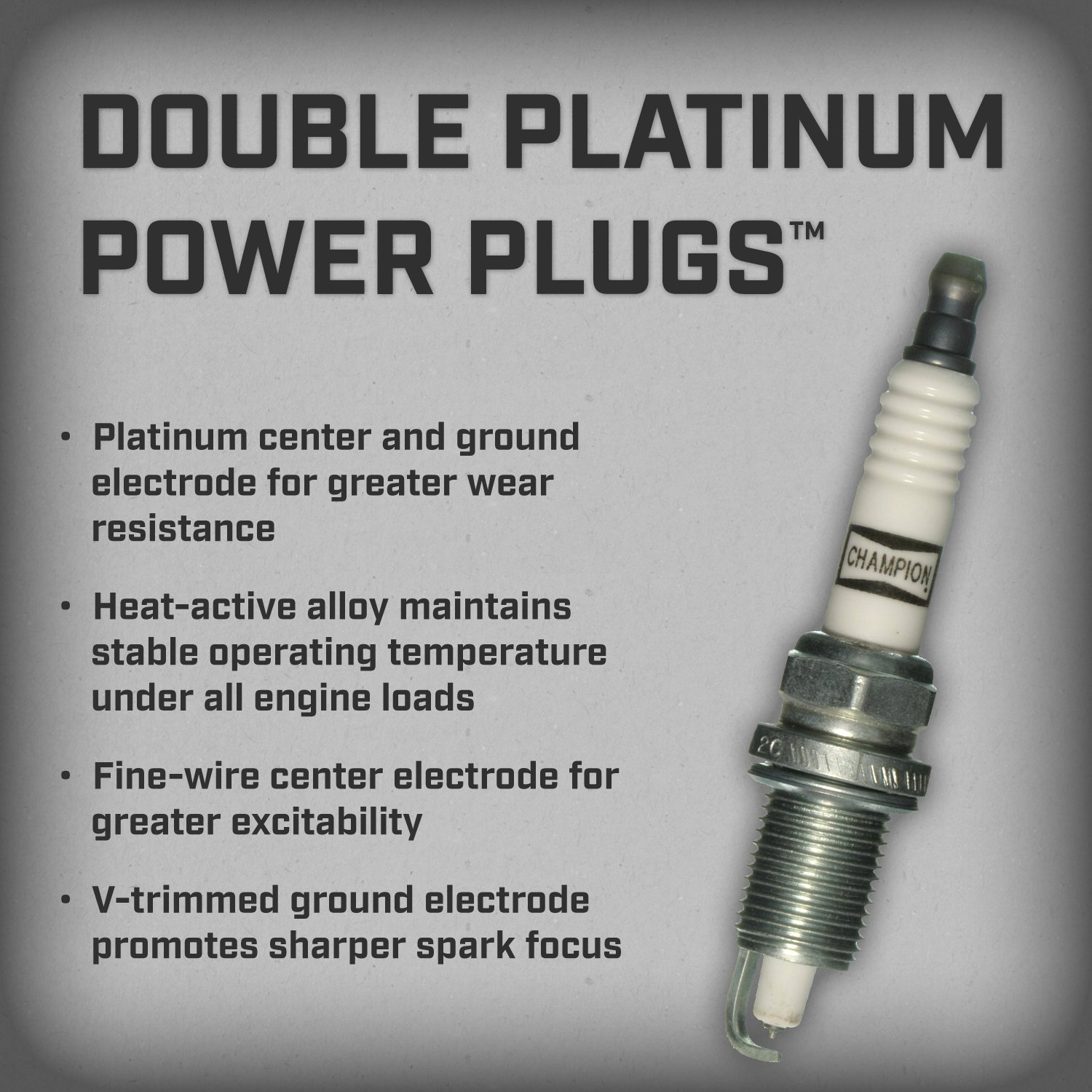 Amazon champion 7034 double platinum power replacement spark amazon champion 7034 double platinum power replacement spark plug pack of 1 automotive geenschuldenfo Image collections